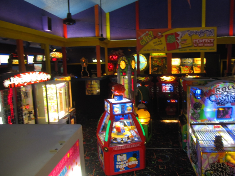 Here Is The Game Room, Lots Of Video Fun For All Ages. They Also Have Skee  Ball.
