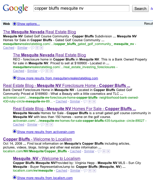 Copper Bluffs Search Result