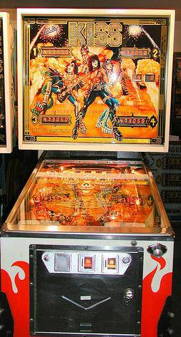 KISS Pinball machine - photo courtesy of the consumerist
