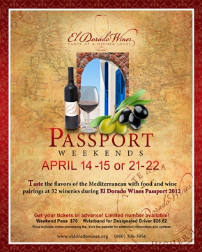 El Dorado Wine Country - Passport Weekend Flyer