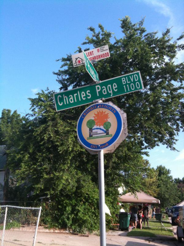Crosbie Heights Neighborhood sign