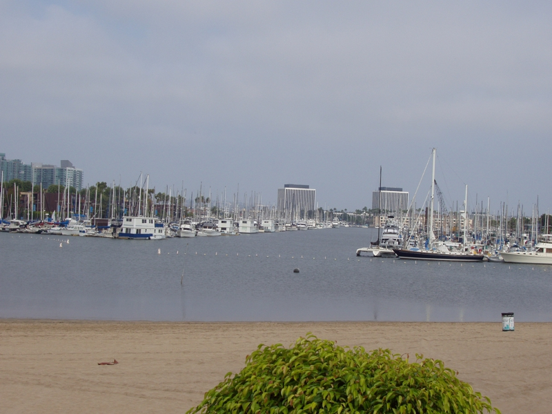 view of Marina Del Rey from Cheesecake Factory