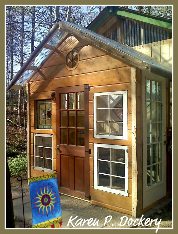 Reuse and repurpose a garden shed made out of salvaged for Salvaged building materials
