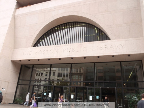 Boston Public Library at a happier time