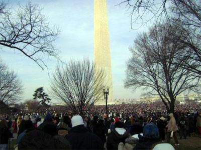 Washington Monument on Inauguration Day