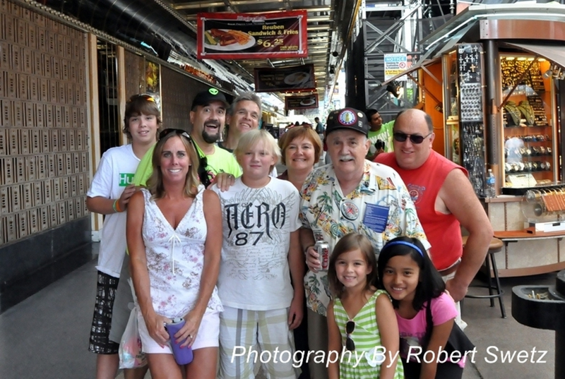 Vegas Bob's family on Fremont Street in Las Vegas Nevada 2011