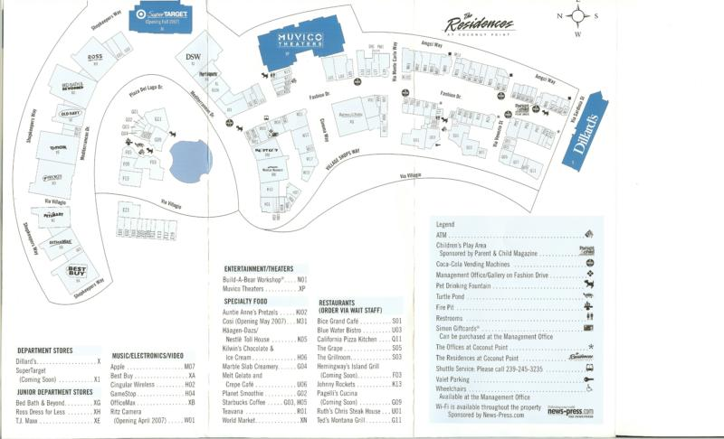 Coconut Point Mall Map