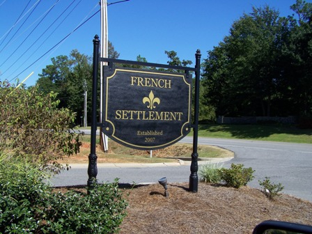 View of the entrance into the French Settlement subdivision in Daphne, AL.