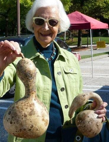 Artist and gourds