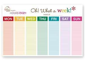monday through sunday calendar Success
