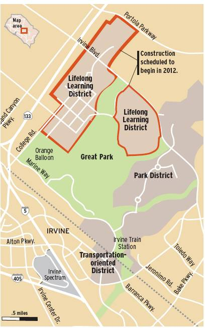great Park OC Irvine map