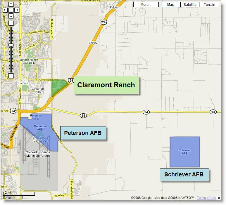 homes near peterson and schriever afb claremont ranch