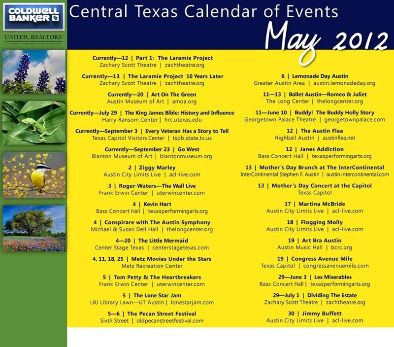 May Calendar Events : May calendar of events austin central texas get