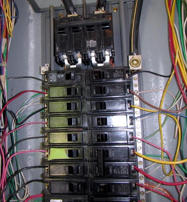15 amp breaker on SABC Chelan Home Inspection