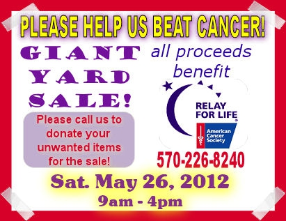 Weichert Relay for Life Yard Sale
