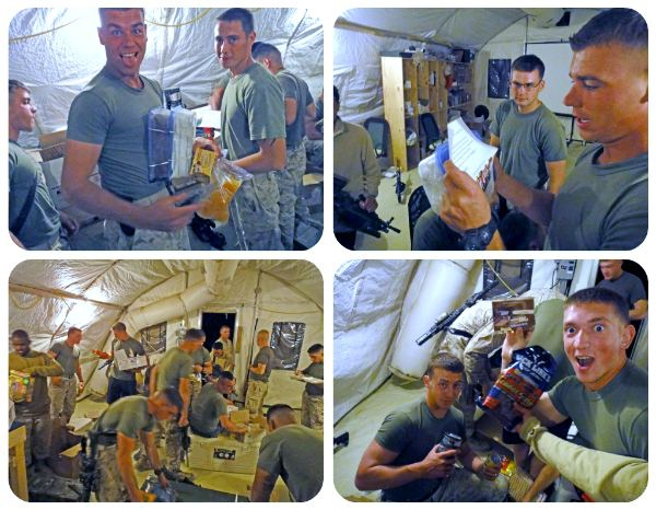 US Marines Opening Packages