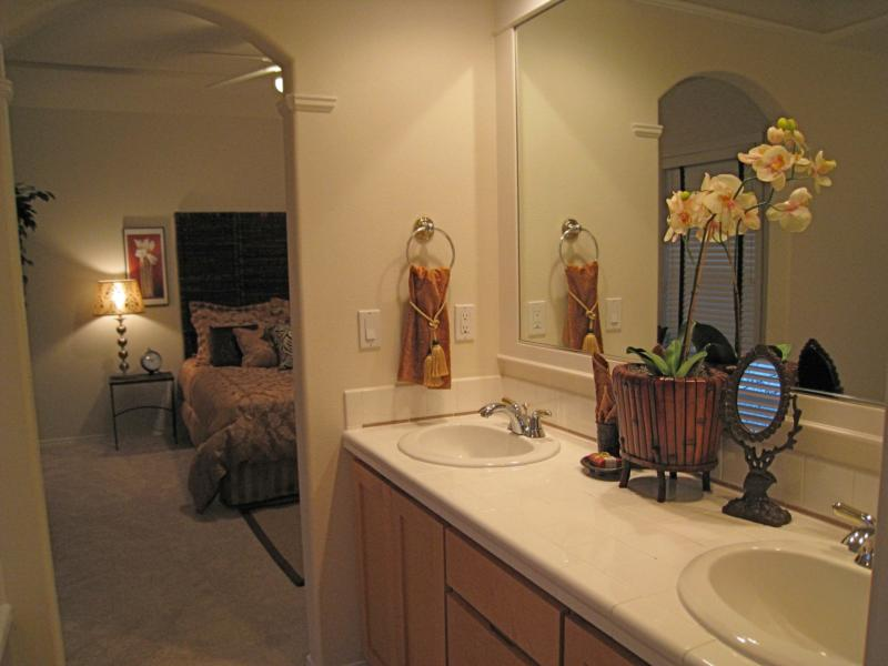 Master bath with double sink