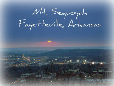 The view on Mt. Sequoyah in Fayetteville, AR