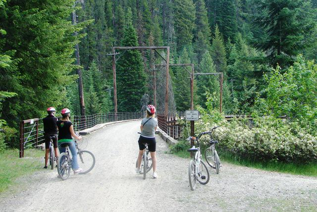 Crossing Trestle on Hiawatha Trail