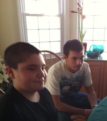 grandsons, Mikey and Ryan