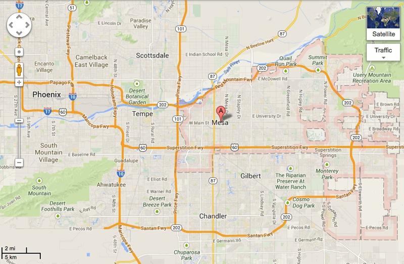 Mesa Arizona Map Related Keywords Amp Suggestions  Mesa