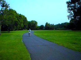 Bike and Walking Trail along Saddle River