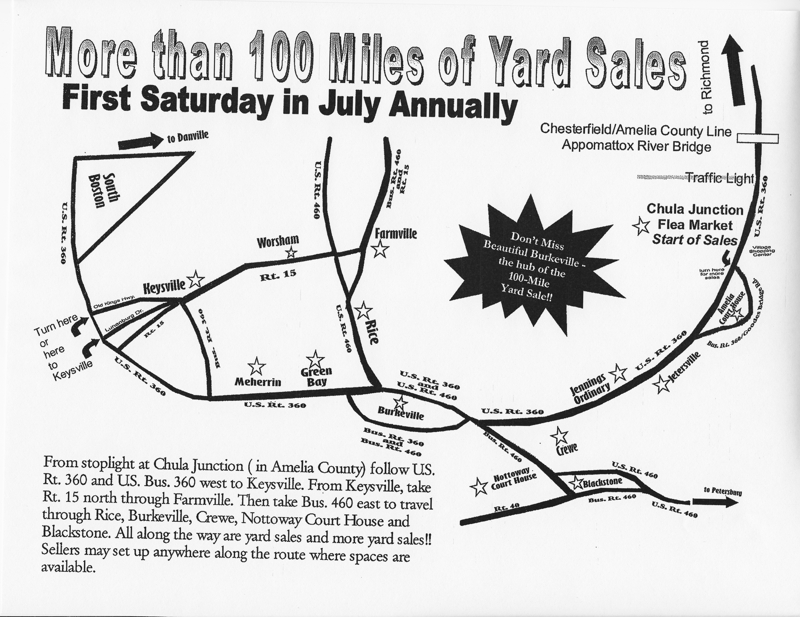 Map of Yard Sales
