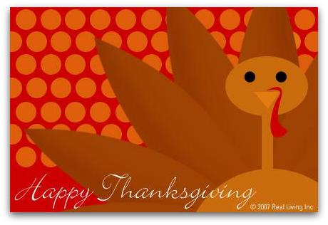 Real Living Thanksgiving ecard