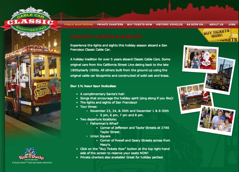 San Francisco S Cable Car Christmas Tour And Holiday Shows