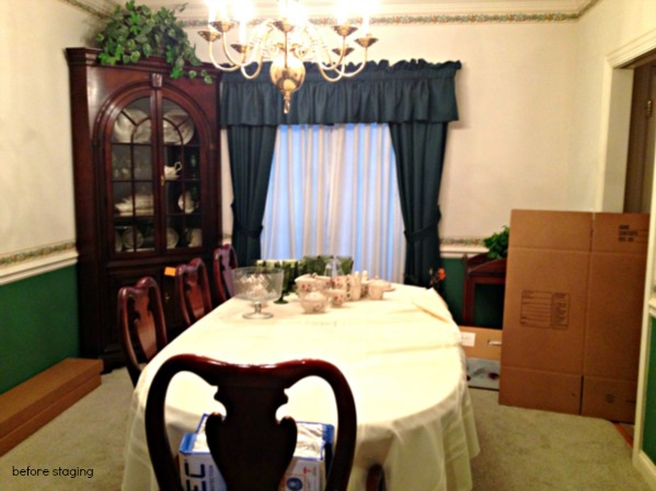 Table Cloths Hutches More Chicago Home Staging Dining Room Donts