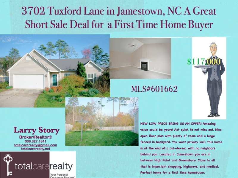 Short Sale home for sale in Jamestown NC