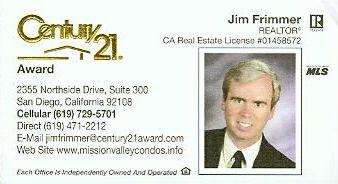 Jim Frimmer business card