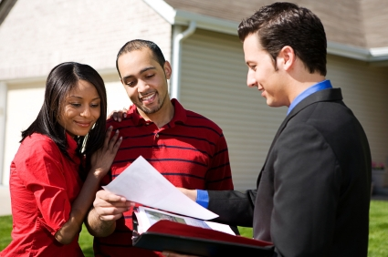 Home buyers working with a Realtor