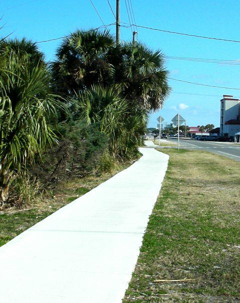 Sidewalks at Mexico Beach Florida