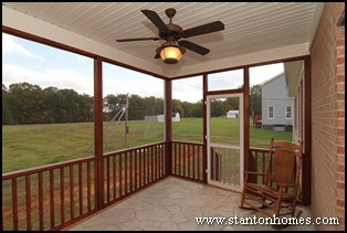 Screen Porch Styles | New Homes with Screen Porches | Rear Screen Porch