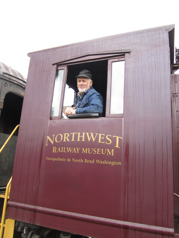 Conductor at Northwest Railway Museum