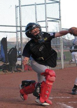 Gabe Wetzel catching CarsonValley Little league