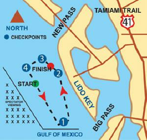 Suncoast Offshore Races Map