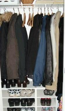 Coat Closet After Organizing