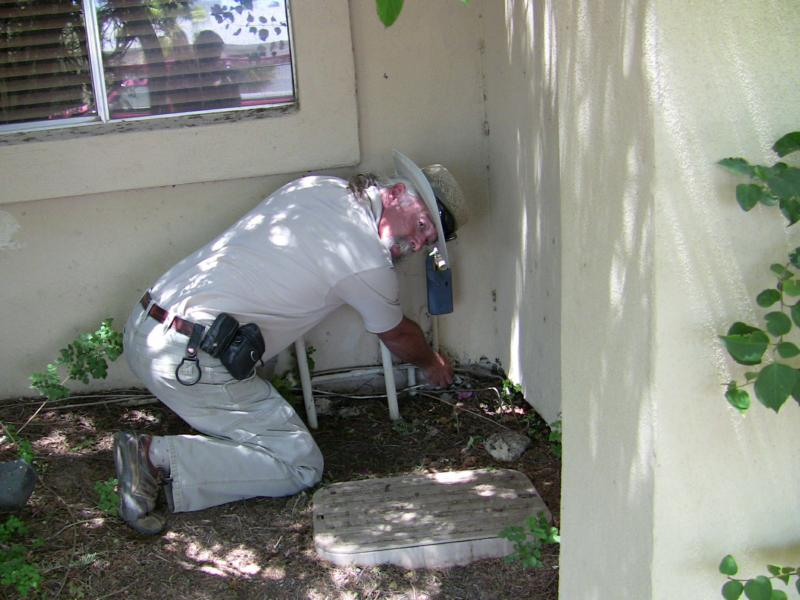 Tom Buckhardt, at work inspecting a Phoenix, AZ home