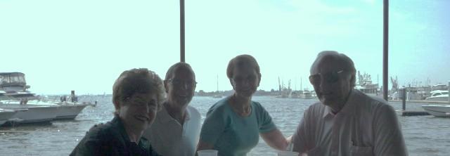 Margaret, Allen, Ellie, Lee -Bay Cafe