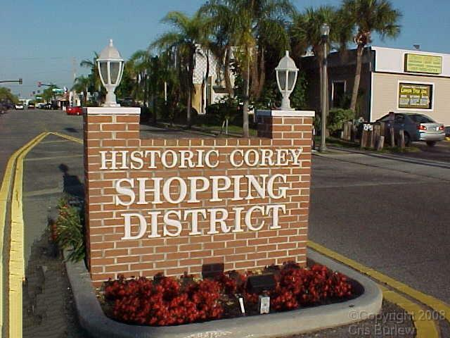 Historic Corey Ave Sign