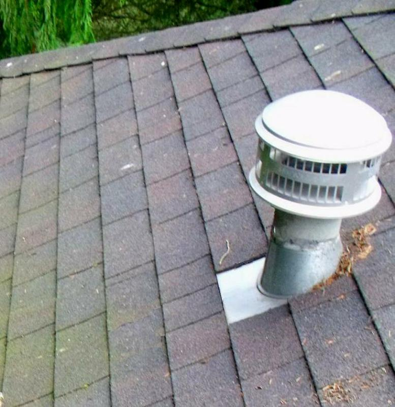 Another typical gas vent on a roof