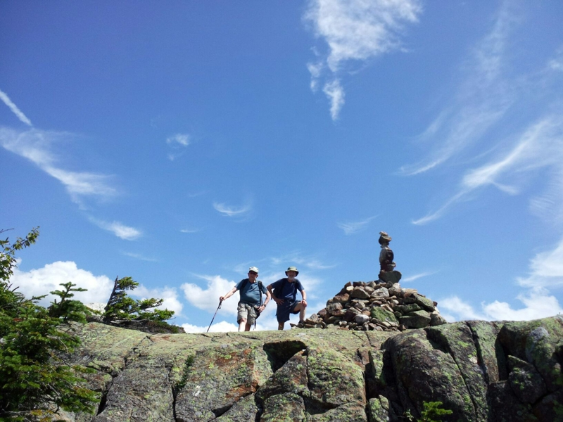 Hikers atop Webster Cliffs, NH