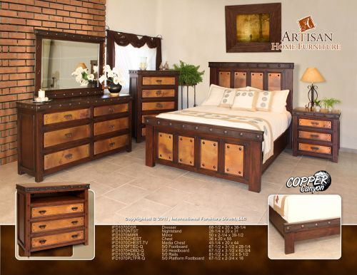 phoenix rustic bedroom furniture southwest style