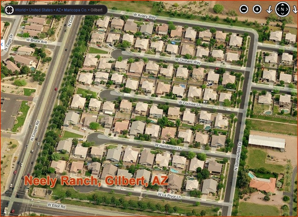 Neely Ranch Subdivision in Gilbert, Arizona