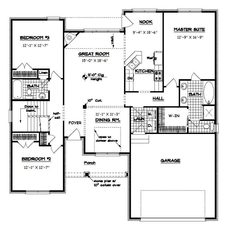 Split Bedroom Ranch Plans Eddiemcgradycom