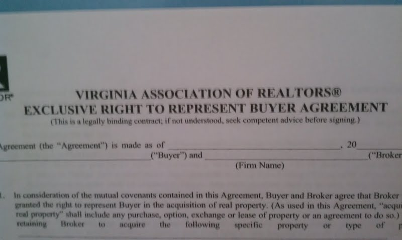 Estate Buyer Agency Agreement To Be Required By Virginia State Law