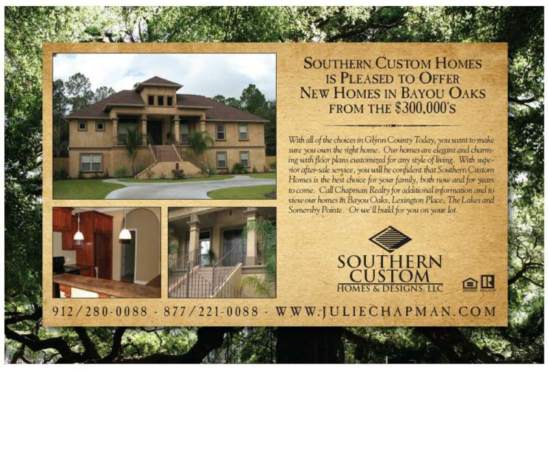 Southern custom homes in bayou oaks homes from the for Southern custom homes