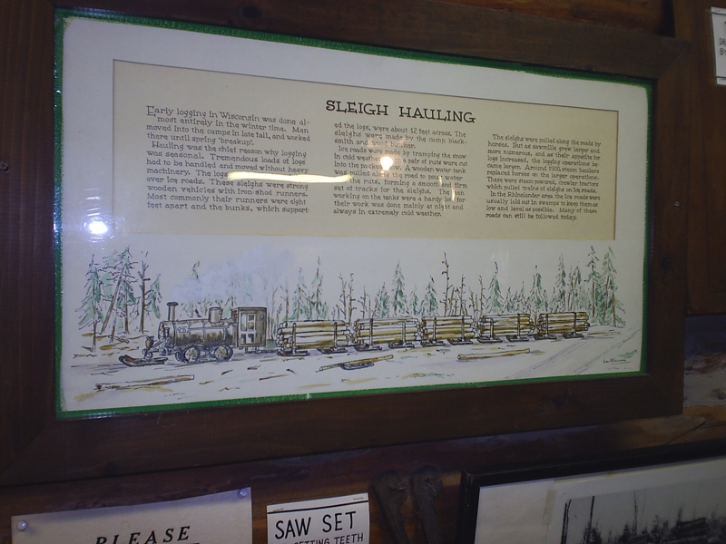 Steam powered logging sleigh at the Rhinelander Museum